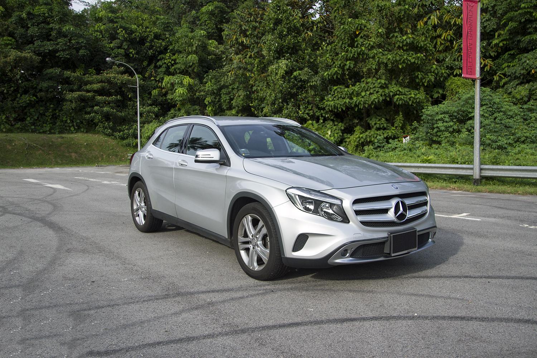 Mercedes Benz GLA Exterior Angled