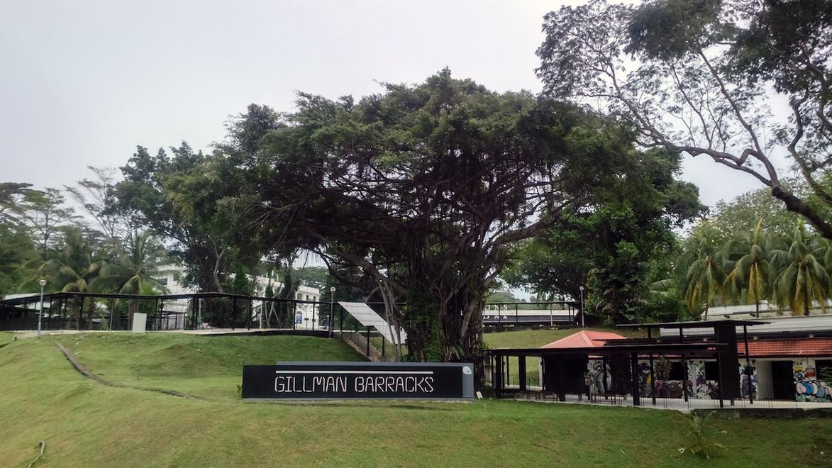 Gillman Barracks hill and signage