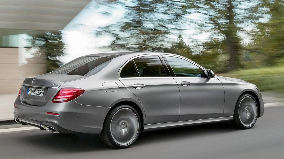 Mercedes-Benz E-Class 220d rear in motion