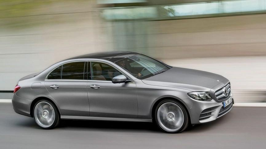 Mercedes-Benz E-Class 220d side in motion