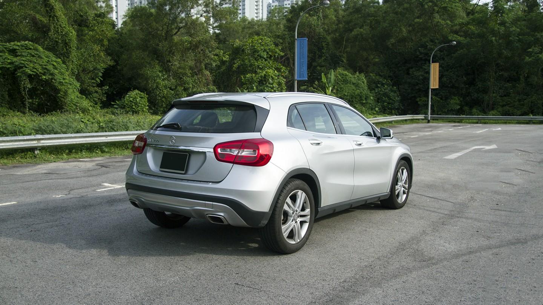 Mercedes Benz GLA Rear Angled