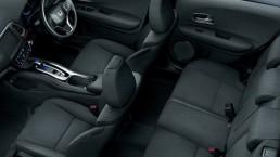 honda vezel hybrid top down view interior