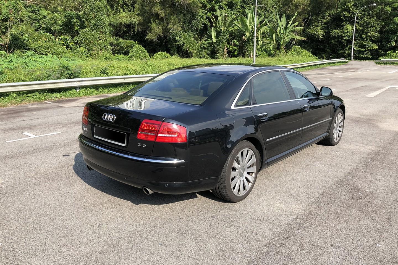 Audi A8 rear side view