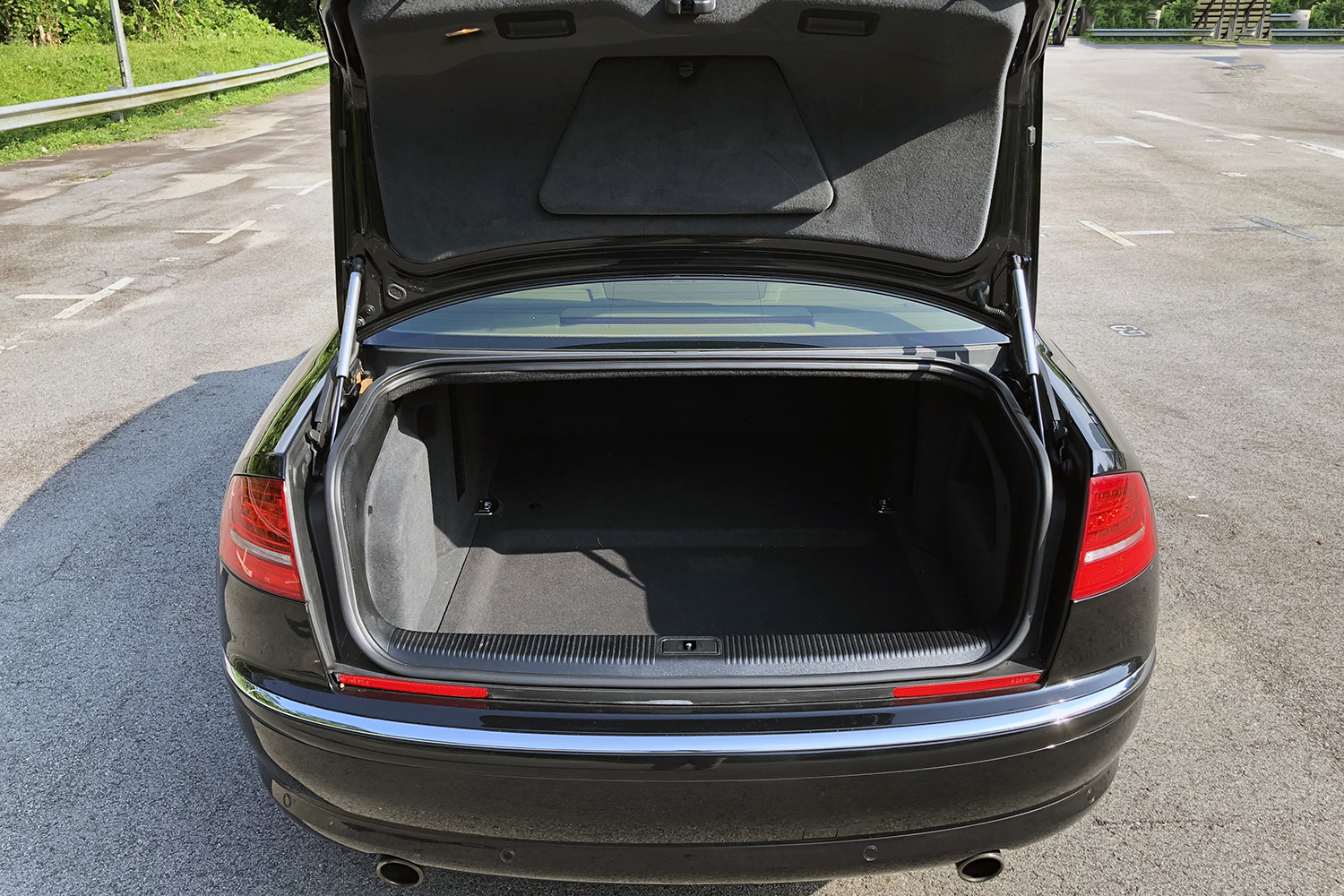 Audi A8 rear boot view