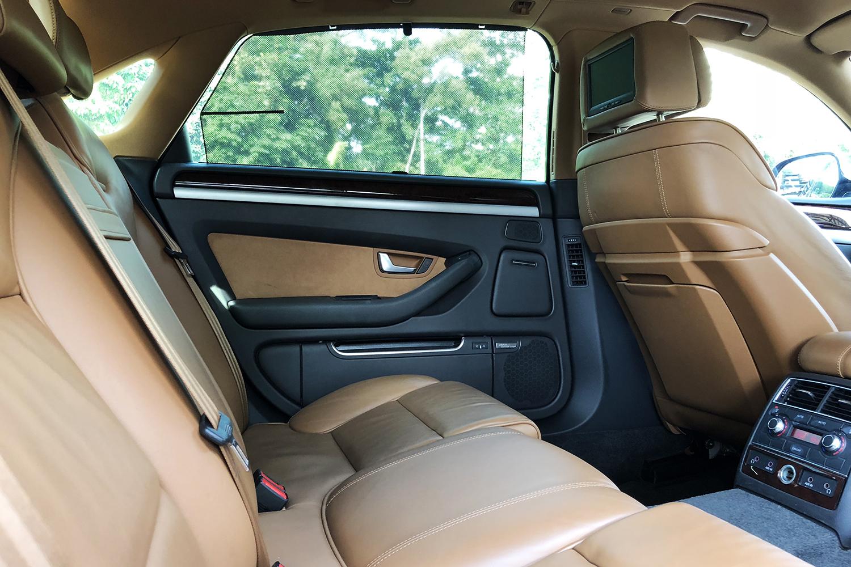 Audi A8 rear seats view