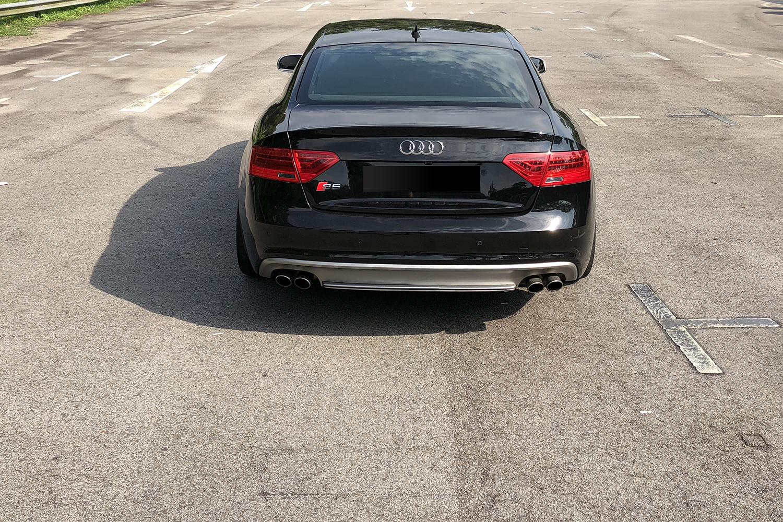 Audi S5 rear facing view