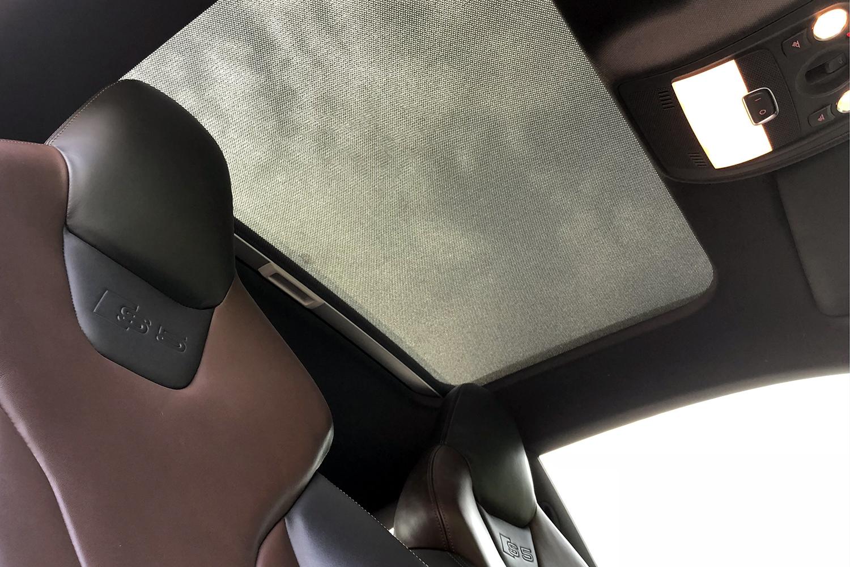 Audi S5 moonroof view